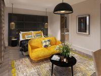 Chambre jaune. Chaque chambre est unique
