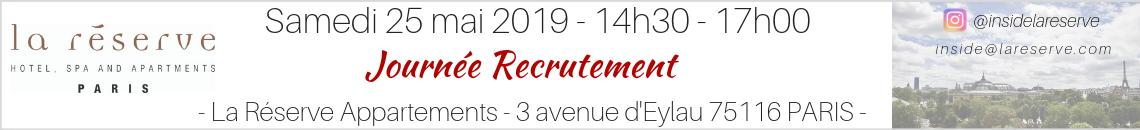 La Réserve Paris Journée de recrutement