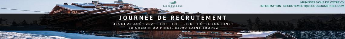 Journée de recrutement Saison d'hiver 2021-2022 à l'hôtel Lou Pinet